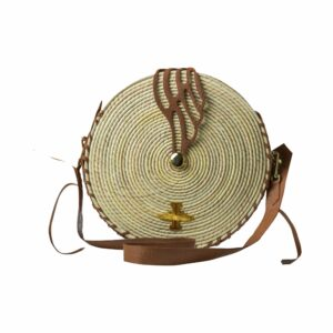 Beach Collection Circle Clasic Natural Wicker Camel